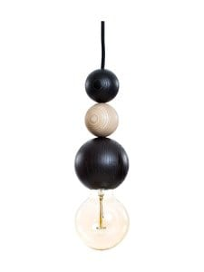 QUU Design - Large BNB -riippuvalaisin 9,5 cm x 25 cm - BLACK/NATURAL | Stockmann