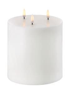 UYUNI - Triple Flame Pillar LED -pöytäkynttilä 15 x 15 cm - NORDIC WHITE | Stockmann