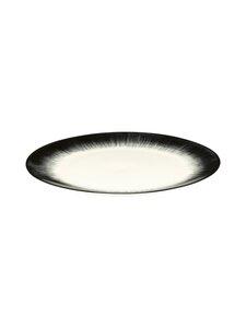 Serax - Dé Tableware by Ann Demeulemeester -lautanen 24 cm - OFF-WHITE/BLACK   Stockmann