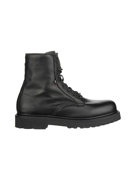 Tommy Hilfiger - Leather Lace Up Boots -nahkanilkkurit - BDS, BLACK | Stockmann - photo 1