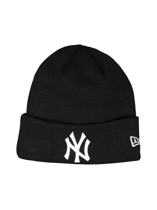 New Era - MLB Essential Cuff Knit New York Yankees -pipo - BLKWHI | Stockmann - photo 1