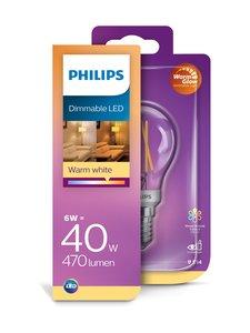 Philips - LED Classic 5W (40W) P45 E14 -lamppu - WHITE   Stockmann