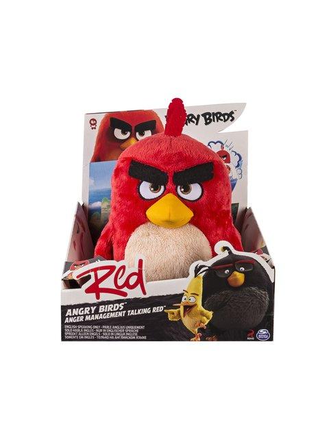 30 cm punainen lintu -pehmolelu äänillä (puhuu englantia)