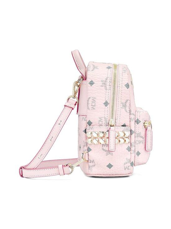 MCM - Stark Bebe Boo Side Studs Backpack in Visetos -reppu - POWDER PINK   Stockmann - photo 3
