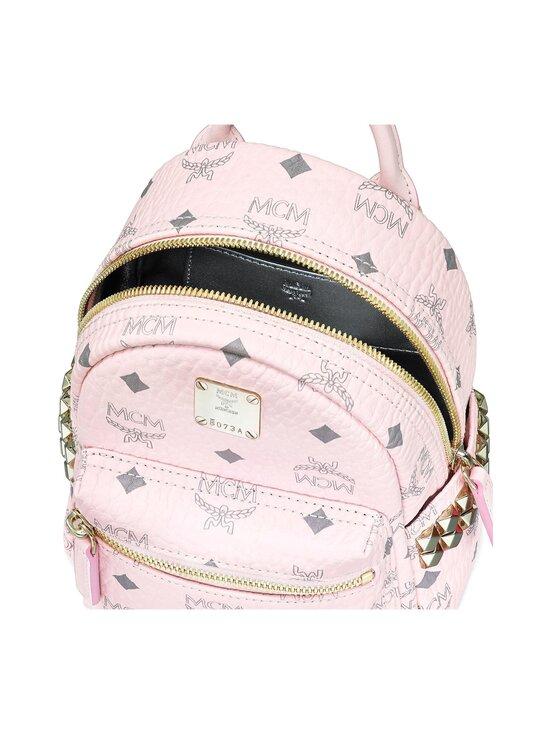 MCM - Stark Bebe Boo Side Studs Backpack in Visetos -reppu - POWDER PINK   Stockmann - photo 4