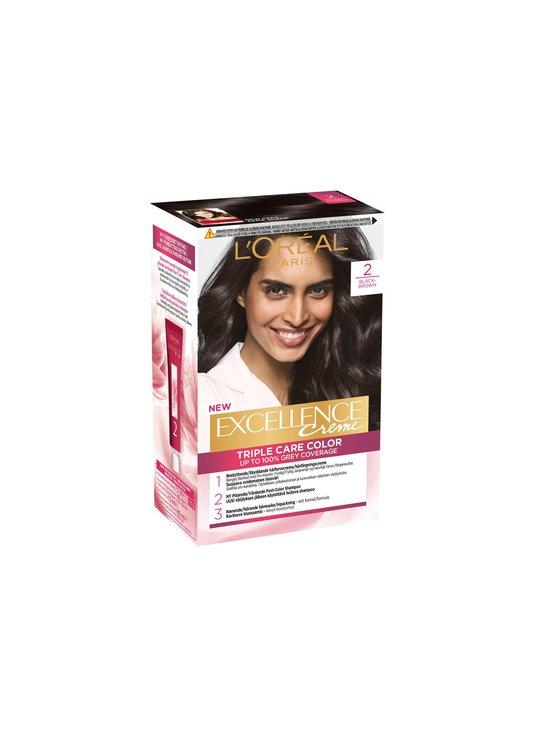 L'Oréal Paris - Excellence Creme -hiusväri - 2 BLACK BROWN | Stockmann - photo 1