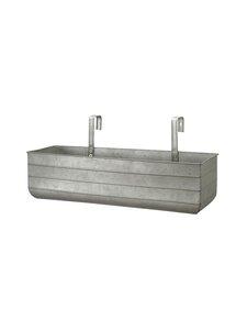 Wikholm Form - Nyla Balcony Pot L -istutuslaatikko - GREY ZINC   Stockmann