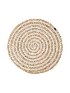 Lexington - Round Cotton/Jute Placemat -tabletti - BEIGE/WHITE | Stockmann