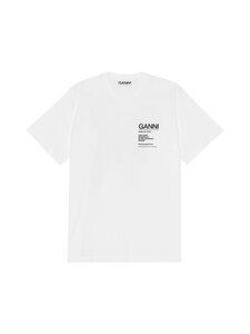 Ganni - Basic Cotton Jersey -paita - 151 BRIGHT WHITE   Stockmann