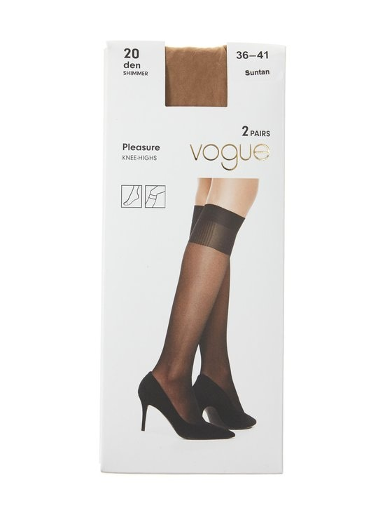 Vogue - Pleasure 20 den -polvisukat 2-pack - SUNTAN | Stockmann - photo 1