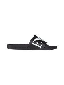 Emporio Armani - Monogram Sliders -sandaalit - A040 BLACK+WHITE+BLACK | Stockmann