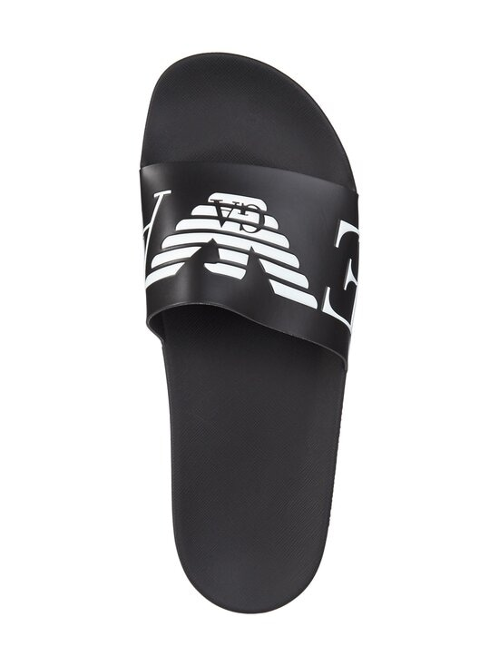 Emporio Armani - Monogram Sliders -sandaalit - A040 BLACK+WHITE+BLACK | Stockmann - photo 2