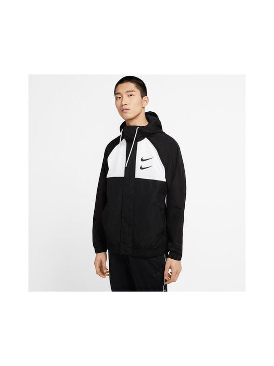 Nike - Swoosh Hooded -takki - 011 BLACK/WHITE/PARTICLE GREY/BLACK | Stockmann - photo 4