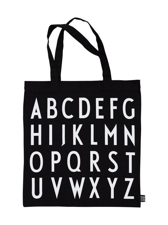 Design Letters - Tote Bag (ABC) -kangaskassi - BLACK   Stockmann - photo 1