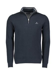 GANT - Cotton Piqué Half Zip -puuvillaneule - 433 EVENING BLUE | Stockmann