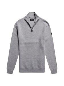 Superdry - Cotton Knit Henley -puuvillaneule - 41Q LIGHT GREY MARL | Stockmann