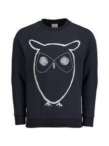 Knowledge Cotton Apparel - Sweatshirt ls cn w big owl print KCA - NAVY | Stockmann