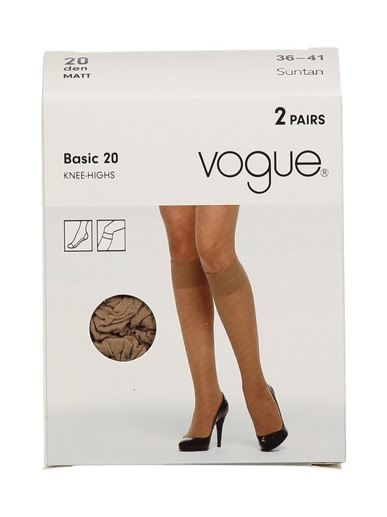 Vogue - Basic 20 den -polvisukat 2-pack - SUNTAN | Stockmann - photo 1