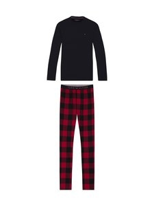 Tommy Hilfiger - LS Flannel Tee Set -pyjama - 0YW DESERT SKY/PRIMARY RED | Stockmann