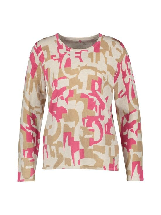 GERRY WEBER CASUAL - Puuvillaneule - 3099 LILA/PINK/ WHITE | Stockmann - photo 1