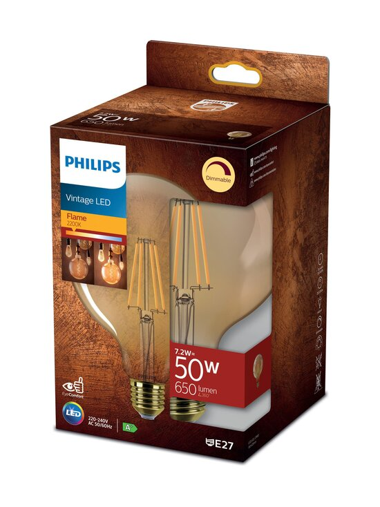 Philips - Vintage LED Classic 50W E27 Flame Dimming -lamppu - WHITE | Stockmann - photo 1