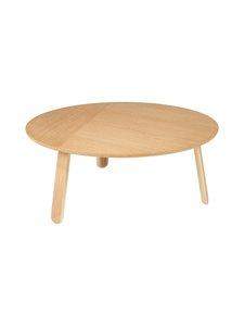 Gubi - Paper Coffee Table -sohvapöytä ⌀ 80 cm - OAK SEMI MATT LACQUERED | Stockmann