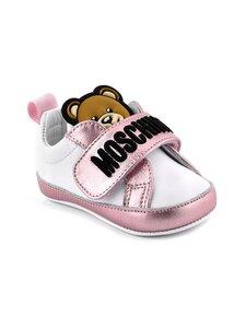 Moschino - Nahkasneakerit - WHITE/PINK/BLACK EMBROIDERY | Stockmann
