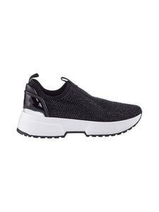 Michael Michael Kors - Cosmo Embellished Stretch Nylon Slip-On Trainer -sneakerit - 001 BLACK | Stockmann