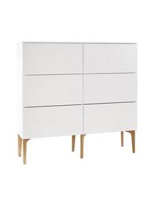 Lundia - Fuuga-laatikosto 35 x 124 x 128 cm - VALKOINEN/TAMMI | Stockmann
