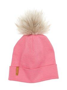 Metsola - RIB Beanie With Fur Pom Pom -pipo - 24 CHATEAU ROSE | Stockmann