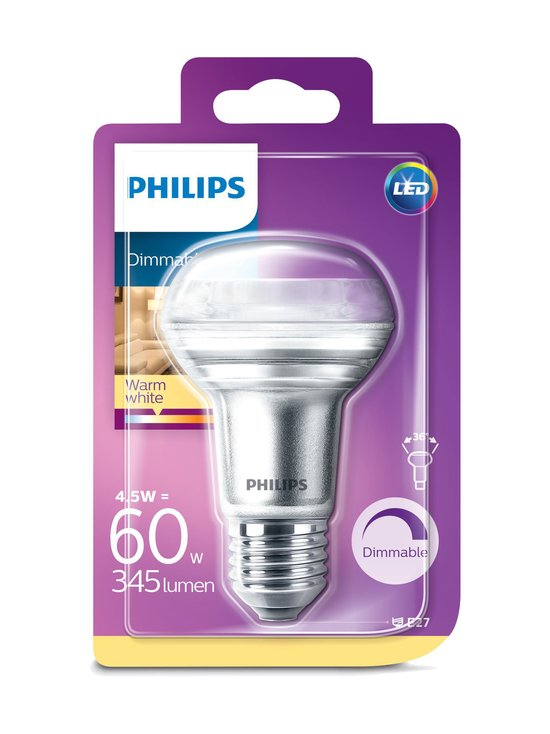 Philips - LED 4,5W (60W) E27 R63 -heijastinlamppu - WHITE | Stockmann - photo 1