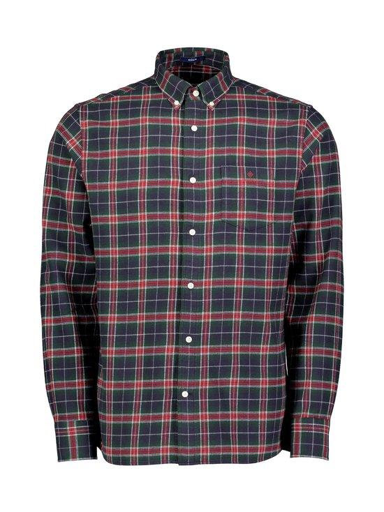 GANT - Flannel Check Reg -paita - 617 MAHOGNY RED | Stockmann - photo 1
