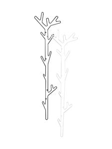 Maze - Branch Hanger -naulakko - MUSTA | Stockmann