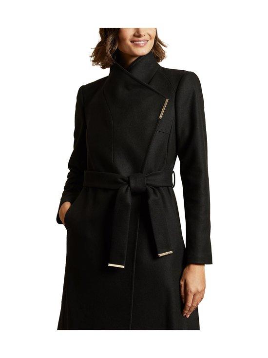 Ted Baker London - Rose Midi Wool Wrap Coat With Shoulder Panels -villakangastakki - BLACK | Stockmann - photo 2