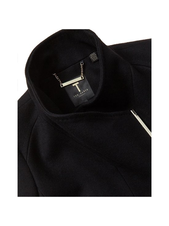 Ted Baker London - Rose Midi Wool Wrap Coat With Shoulder Panels -villakangastakki - BLACK | Stockmann - photo 5