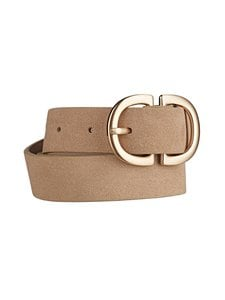 Pieces - PcJuva-nahkavyö - NATURAL DETAIL:W BRUSHED GOLD BUCKLE CP | Stockmann