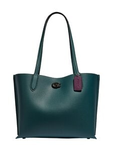 Coach - Willow Tote With Signature Canvas Interior -nahkalaukku - V5FOR V5/FOREST | Stockmann