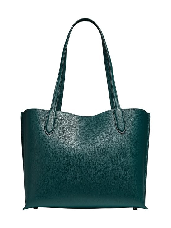 Coach - Willow Tote With Signature Canvas Interior -nahkalaukku - V5FOR V5/FOREST | Stockmann - photo 2