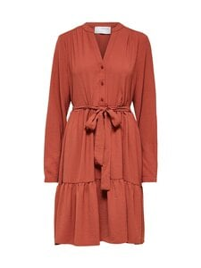Selected - SlfMivia LS Short Dress -mekko - CHILI OIL   Stockmann