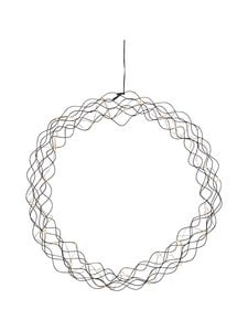 Star - Hanging Decoration Curly -koristevalo 48 x 48 x 9 cm - BLACK (MUSTA) | Stockmann