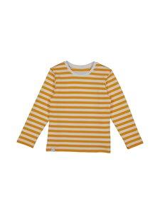 Makia - Verkstad Long Sleeve T-shirt -paita - YELLOW-WHITE | Stockmann