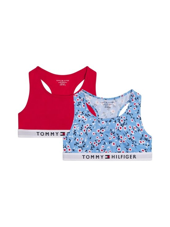 Tommy Hilfiger - Bralette-toppi 2-pack - 0Y0 MOON BLUE/PRIMARY RED | Stockmann - photo 1
