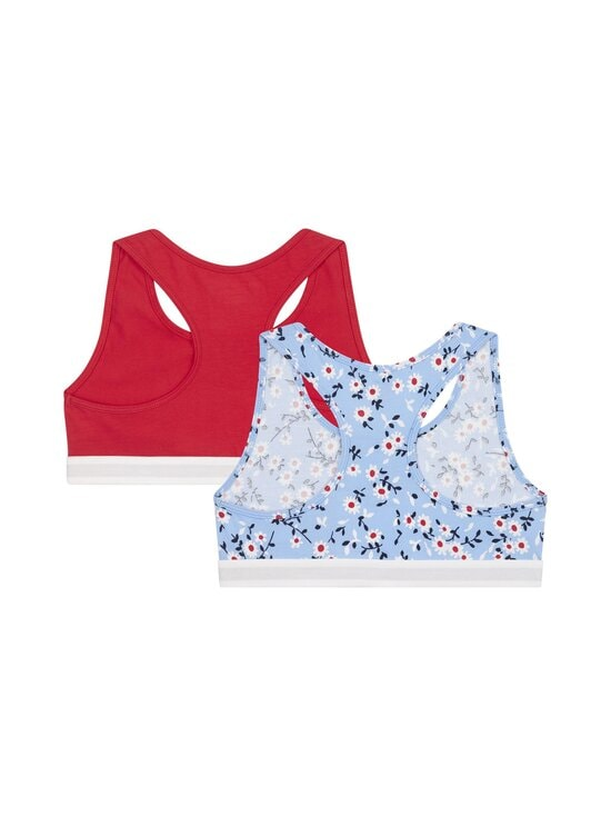 Tommy Hilfiger - Bralette-toppi 2-pack - 0Y0 MOON BLUE/PRIMARY RED | Stockmann - photo 2