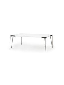 Muurame - Viiva-ruokapöytä 208 x 104 cm - WHITE/BLACK | Stockmann