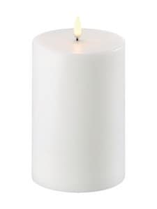 UYUNI - Pillar LED -pöytäkynttilä 10 x 15 cm - NORDIC WHITE | Stockmann