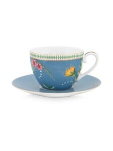 PIP Studio - La Majorelle -kahvikuppi 280 ml ja lautanen - BLUE | Stockmann