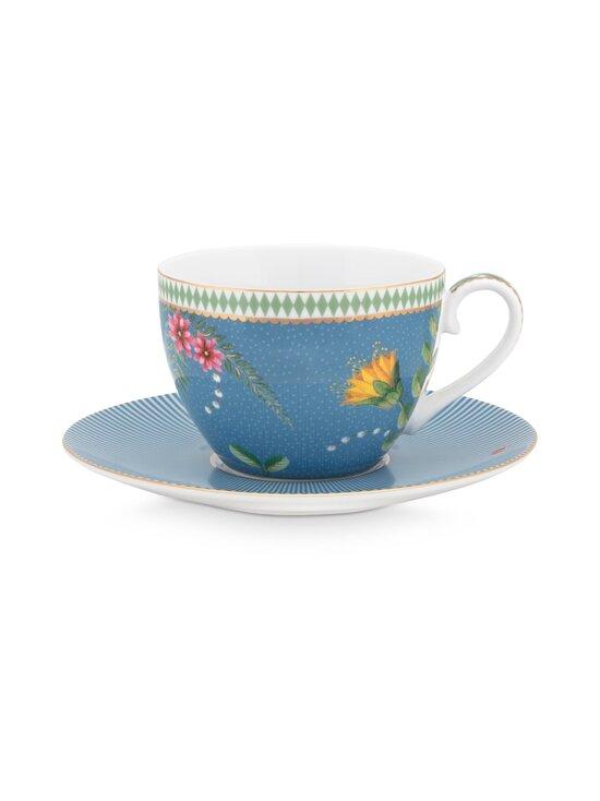 PIP Studio - La Majorelle -kahvikuppi 280 ml ja lautanen - BLUE | Stockmann - photo 1