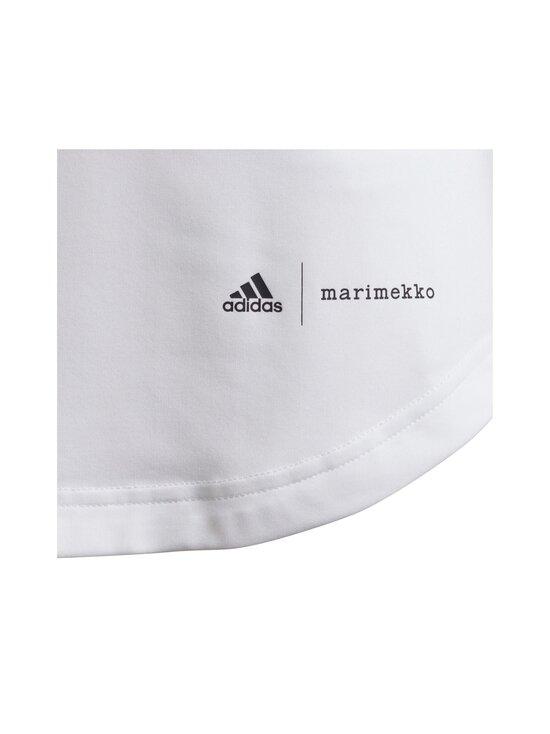 adidas x Marimekko - Primegreen Aeroready pitkä T-paita - WHITE/VIVRED | Stockmann - photo 5