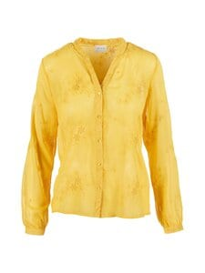 Vila - ViBroderi Long Sleeve Shirt -pusero - SPICY MUSTARD | Stockmann