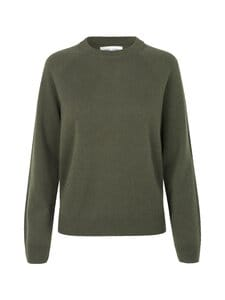 Samsoe & Samsoe - Boston O-Neck -kashmirneule - DARK OLIVE | Stockmann
